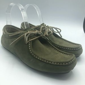 Sperry driving desert green suede shoes size 8